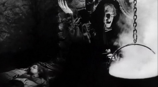 Castle of the Living Dead (1964) - Donald Sutherland as the old witch