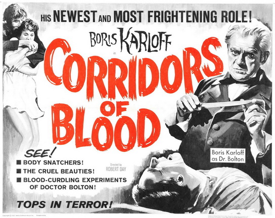 Corridors of Blood movie poster