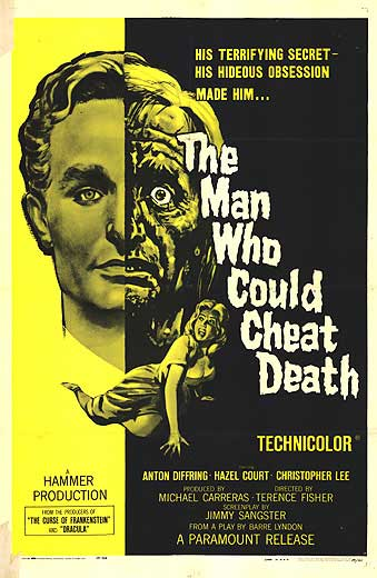 The Man Who Could Cheat Death movie poster
