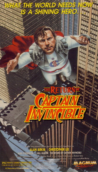 The Return of Captain Invincible VHS cover